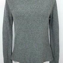 Express Womens Gray Long Sleeve Scoop Neck Stretch Sweater Top Size Medium Photo