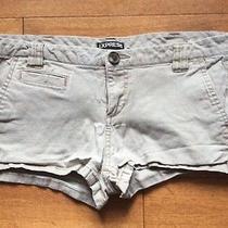 Express Womens Gray Shorts Sz 6 Cotton Blend Never Worn Photo