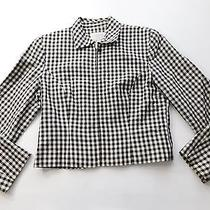 Express Womens Jacket Size 7/8 Black Gingham Check Zip Up Sports Jacket Collared Photo