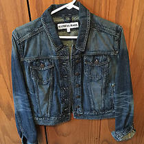 Express Womens Jean Jacket Size Large Photo