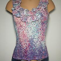 Express Womens Juniors Xs Small Shirt Top Blouse Cute Sexy Trendy Stretch Euc Photo
