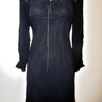 Express Womens Ladies 100% Silk Little Black Spring Summer Classic Dress Sz 6 Photo