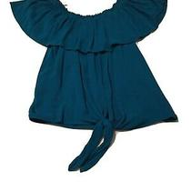 Express Womens Large Top Blue  100% Rayon Photo
