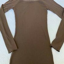 Express Womens Long Sleeve Embellished X Long Tee Top Photo