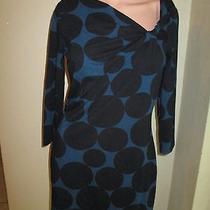 Express Womens M Blue Black Polka Dot 60s Style Dress Sexy Dress Cotton Modal Photo