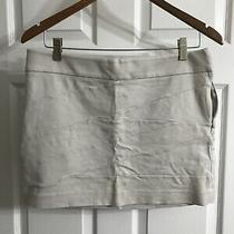 Express Womens Mini Skort Skirt Khacki - Size 6 - Euc - Smoke / Pet Free Home Photo