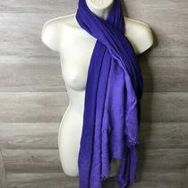 Express Womens One Size Ombre Blue Purple Lightweight Rayon Fabric Scarf Nwot Photo
