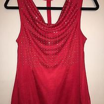 Express Womens Red Embellished Top Size Small Photo
