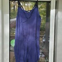 Express Womens Romper Blue Size Medium  Photo