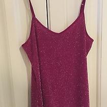 Express Womens Shimmering Tank Top Cami Shirt Maroon Size Small Nwt 19.90 Photo