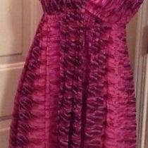Express Womens Silk Pink Patterned Sexy Summer Dress Sz 2 Photo