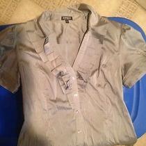 Express Womens Silver Dress Shirt  Photo