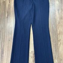Express Womens Size 10 Navy Houndstooth Print Editor Fit Dress Pants Photo