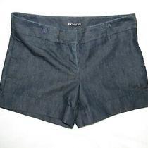 Express Womens Size 6 Dark Blue Denim 4-Pocket Stretch Cuffed Casual Shorts Photo