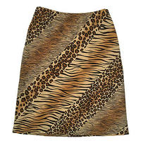 Express Womens Size S Animal Print Big Cats Pencil Skirt Lined Photo
