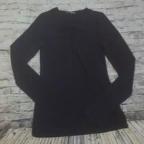Express Womens Size Small Navy Blouse Top Longsleeves Photo