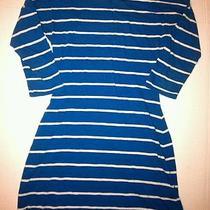 Express Womens Size Xs Blue/off White Dress Photo