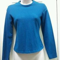 Express Womens Stretch Blue Top Long Sleeved Small Trendy Shirt Photo