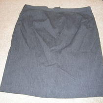Express Womens Stretch Dark Gray Skirt Sz 13/14 Photo