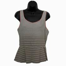 Express Womens Tank Top Tan Striped Size L Large Photo