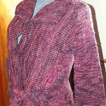 Express Wool Belted  Wrap Shrug  Sweater  Pockets  Pinks & Purples S Small  Photo