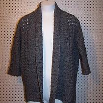 Express Wool Blend Sweater Misses Size M Short Sleeve Cardigan Open Front Photo