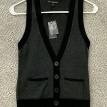 Express Wool Blend Vest Black/grey Size Xs New With Tags Photo