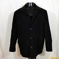 Express Wool Jacket Car Coat Mens Size L Large Brown Insulated Photo