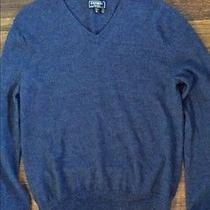 Express Wool v-Neck Sweater Blue Medium Photo