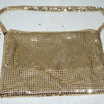 Express World Brand Gold Metal Mesh Clutch Bag W Original Price Tag Photo