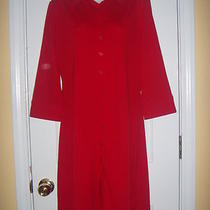 Express World Brand Woman's Red Long Sleeve Button Dress Sz. 11/12 Photo