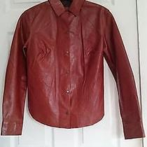 Express Worldbrand Leather Jacket Size 1/2 Brown Photo