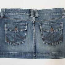 Express X2 Denim Jean Mini Skirt Size 8 Nice Photo