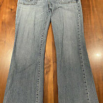 Express X2 Denim Labatory Women's Straight Leg Jeans Size 32 W32 L32 Guc Photo