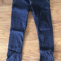 Express X2 Size 0 (Short) Ultra Low Rise Skinny Stretch Denim Blue Jeans. Photo