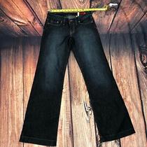 Express X2 Women Jeans Size 4 Flare Bootcut Dark Wash Blue Denim - D8 Photo