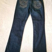 Express X2  Women Size 6 Denim Jeans Blue Studded Bootcut Medium Wash  Photo