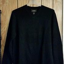 Express Xl Lambs Wool Sweater Black Long Sleeve Euc  v Neck  Photo