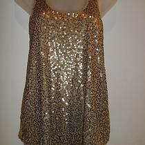 Express Xs Dressy Top Sequin Shint Racerback Tank Spring Summer Beach Party Chic Photo