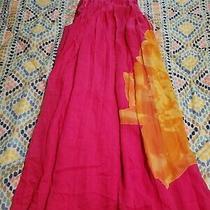 Express Xs Hot Pink and Yellow Flower Dress Photo