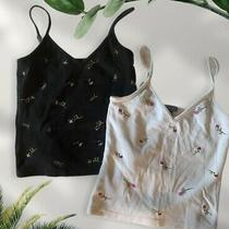 Express Y2k Embroidered Floral Cami Tank Tops Bundle Size S Photo