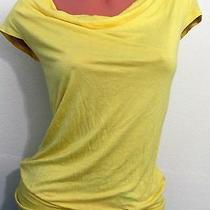 Express Yellow Cocktail Party Open Back Lovely Blouse Top Shirt Sz Xs Photo