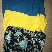 Express Yellow Floral Blue Sleeveless Tube Xs Ruffle Strapless Womens Lot Tops Photo