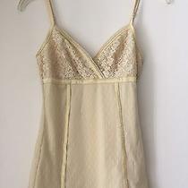 Express Yellow Lace Shirt Tank Top Blouse Corset Size Xs X Small Womens Clothing Photo