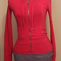 Express Yoga- Women's Long Sleeve Hoodie - Solid Pink- Size Xs Photo