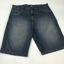 Express Your Style to the Max Jean Shorts Men's Size 40 Medium Blue Denim Cotton Photo
