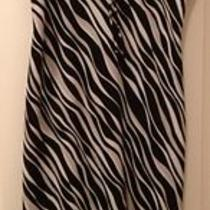 Express Zebra Print Ruffle Dress-Size 7/8 Photo