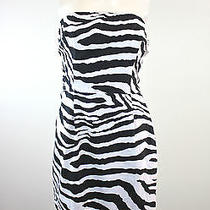 Express Zebra Print Strapless Mini Dress 10 Photo