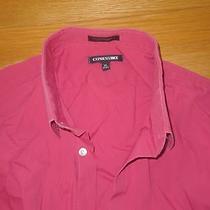 Express1mx Man Men Dress Casual Shirt Pink Red Fucsia Xl 17-17.5 Modern Fit Photo