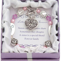 Expressively Yours Bracelets - Crystal & Silver - W/ Verse Card & Gift Box Photo
